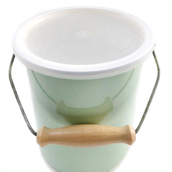 emaille-kompost-eimer-deckel-hellgruen-plastik-1