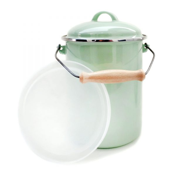 emaille-kompost-eimer-deckel-hellgruen-plastik-2